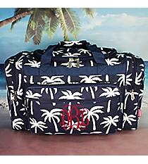 "20"" Navy Paradise Palms Duffle Bag with #YAO420-NAVY"
