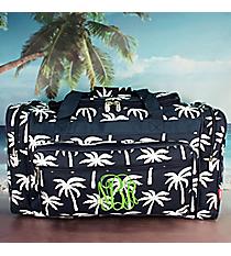 """23"""" Navy Paradise Palms Duffle Bag #YAO423-NAVY"""