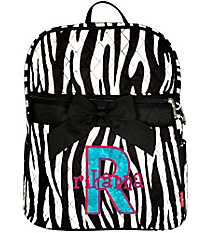 Zebra Quilted Large Backpack #ZBRB2828-BLACK