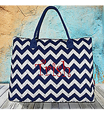 Royal Blue Chevron Quilted Large Shoulder Tote #ZCM3907-ROY/BLhoulder Tote #SOC3907-BLACK