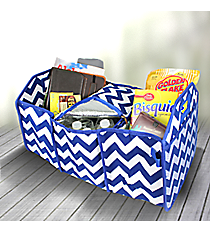 Royal Blue Chevron Utility Storage Tote with Insulated Bag #ZIN516-ROY/BL