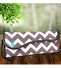 Gray Chevron Insulated Flat Iron Case #ZIG390-GRAY