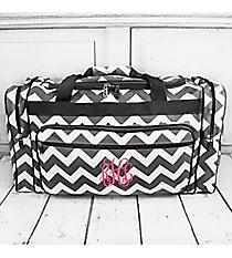 "Gray Chevron Duffle Bag 23"" #ZIG423-GRAY"