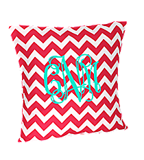 Hot Pink Chevron Throw Pillow Slipcover #ZIH685-HPINK