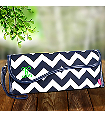 Navy Chevron Insulated Flat Iron Case #ZIN390-NAVY