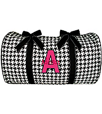 "21"" Houndstooth Quilted Duffle Bag #ZSW2626-BLACK"