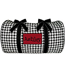 "21"" Houndstooth Quilted Duffle Bag #ZSW2626 *Available in 2 Trim Colors"