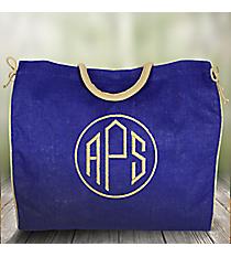 Royal Blue Everyday Jute Tote Bag #34503