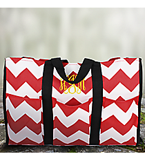 Red and White Chevron Utility Tote #35883