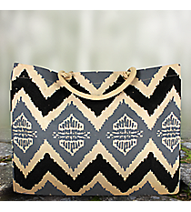 Black and Gray Aztec Chevron Classic Juco Bag #36468