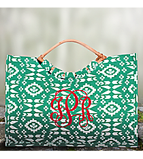 Sea Green Southwestern Jute Bag #36542-SEAGREEN