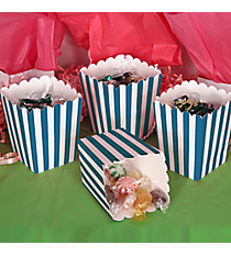 2 Dozen Turquoise Striped Mini Popcorn Boxes #3/6051