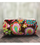 Twice as Nice Clutch Wallet in Quilted Whimsical Wonderland #KPQ333