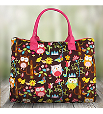 Large Shoulder Tote in Owl Give A Hoot #WQL3907-HPINK