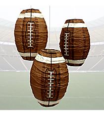 Set of 3 Football Paper Lanterns #42/2388