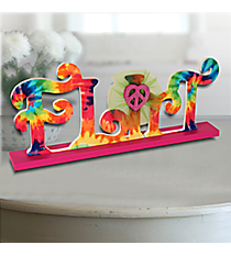 "5"" x 12"" Tie Dye ""Flirt"" Tabletop Decor #BFDM0048"