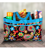 Whimsical Wonderland Fold-able Utility Bag #KPQ559-TURQ