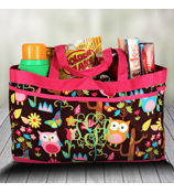 Owl Give a Hoot Fold-able Utility Bag #WQL559-HPINK
