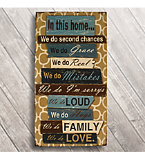 """23.5"""" x 12"""" """"We Do..."""" Painted Wall Hanging #BFEM0037"""
