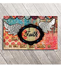 """12"""" x 18.75"""" Winged Faith Canvas Print #BSEY0019"""
