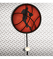 "10"" x 7"" Metal Basketball Theme Hanging Wall Hook #K2305"