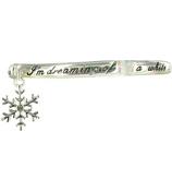 """White Christmas"" Stretch Bangle with Charm #AB3294-ASAB"