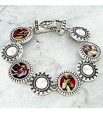 Silvertone Cowgirl Magnetic Bracelet #AB4658-ASMT