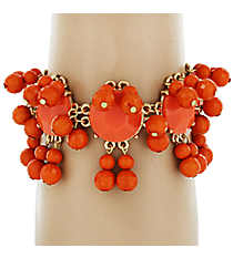 Chunky Orange Beaded Bracelet #AB6659-GO