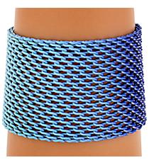 Blue Ombre Mesh Bracelet #AB7171-RHM
