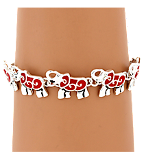 Red Elephant Magnetic Bracelet #AB7416-ASR
