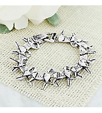 Silvertone Origami Horse Magnetic Bracelet #AB7997-AS