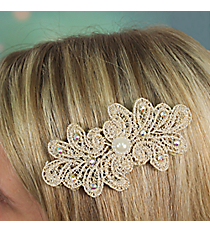 Pearl Accented Lace Velcro Hair Accessory #IH0112-N