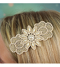 Pearl Accented Flower Velcro Hair Accessory #IH0114-N