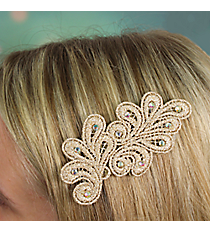 Crystal Accented Lace Velcro Hair Accessory #IH0115-N