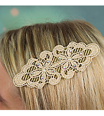 Pearl Accented Flower Velcro Hair Accessory #IH0116-N