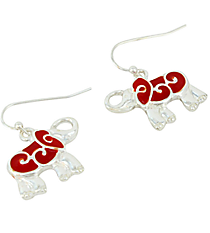 Red Elephant Earrings #AE1272-SR