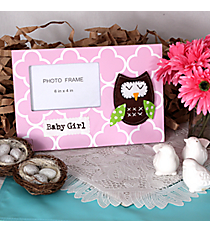 "8"" x 11.75"" Pink ""Baby Girl"" Owl 6"" x 4"" Photo Frame #AFDA0001"