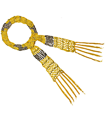 "70"" Beaded Yellow Scarf Necklace #AN0481-RHY"
