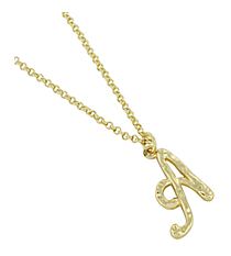 "Goldtone ""A"" Initial Necklace #AN0488-GA"