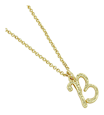 "Goldtone ""B"" Initial Necklace #AN0488-GB"