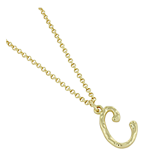 "Goldtone ""C"" Initial Necklace #AN0488-GC"