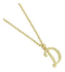 "Goldtone ""D"" Initial Necklace #AN0488-GD"