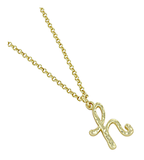 "Goldtone ""H"" Initial Necklace #AN0488-GH"