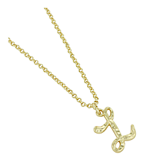 "Goldtone ""L"" Initial Necklace #AN0488-GL"