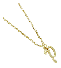 "Goldtone ""P"" Initial Necklace #AN0488-GP"