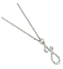 "Silvertone ""J"" Initial Necklace #AN0488-RHJ"