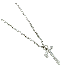 "Silvertone ""T"" Initial Necklace #AN0488-RHT"