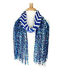Dark Blue Chevron Open Weave Scarf #AN0591-M