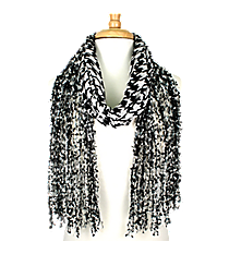 Houndstooth Open Weave Scarf #AN0593-JW