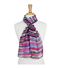 "64"" Pink and Purple Multi-Color Chevron Scarf #AN0600-A"